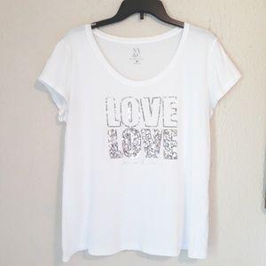 NY&C WOMEN'S  SHIRT SIZE XL  LOVE /LOVE